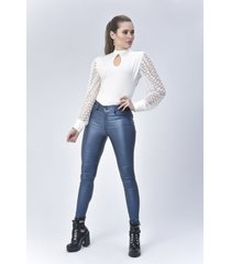 pantalon jeans dama azul di bello jeans ® classic jeans ref j863