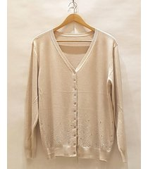 cardigan beige brillo pink sisly