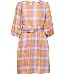 birkakb dress knälång klänning orange karen by simonsen