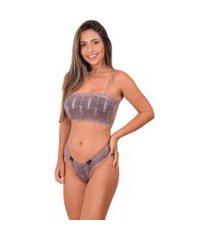 conjunto lingerie top faixa sem bojo - cjsrd010-satin-g nude