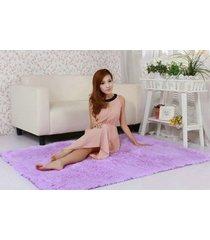 11 colores 80*120cm  salón suelo yoga mats alfombras sala casa cuarto de dormir(púrpura)