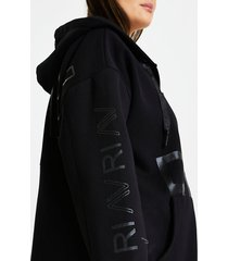 river island womens plus black ri active zip through hoodie