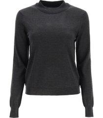 maison margiela light wool knit sweater