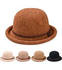 cappello da donna a forma di arco semplice cappello selvaggio ciniglia elegante cappello regolabile confortevole