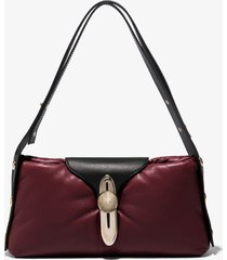 proenza schouler padded latch shoulder bag bordeaux/brown one size