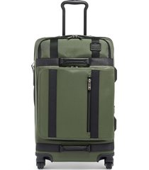 tumi merge 26-inch front lid recycled dual access 4-wheel packing case - green