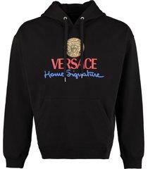 versace cotton hoodie