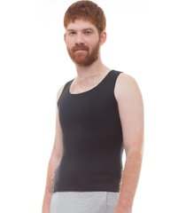 cinta modeladora e postural masculina light compression bodyshaper - slim fitness preta