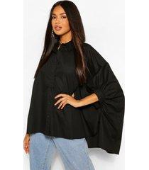 oversized overhemd, zwart