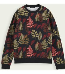 scotch & soda sweater van een katoenmix met print