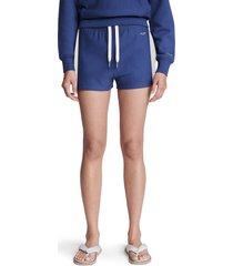 women's rag & bone city mini organic cotton sweat shorts, size x-small - blue