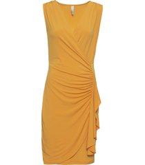 abito a portafoglio con volant (giallo) - bodyflirt boutique
