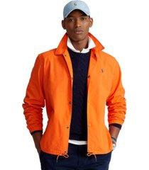 polo ralph lauren men's poplin coach jacket