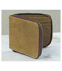 men's leather wallet, 'safeguard' (mexico)