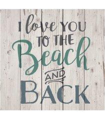 p graham dunn i love you to the beach & back wall art