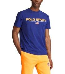 camiseta azul-naranja polo ralph lauren