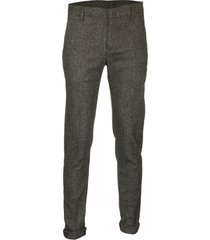 dondup gaubert slim wool trousers