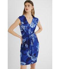 dress front knot - blue - xl