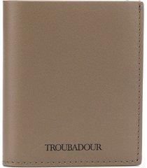 troubadour slim billfold wallet - grey