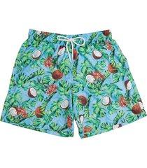 shorts masculino de praia coco azul 613 mash