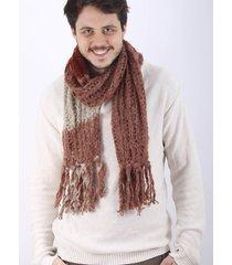 bufanda de lana marrón spiga 31