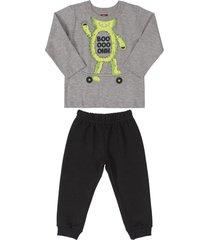 conjunto gris-negro-verde bee loop