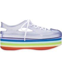 tenis melissa vidrio blanco multicolor star in love