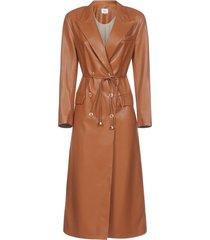 nanushka manila vegan leather trench coat