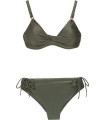 lygia & nanny marcela high rise bikini set - green