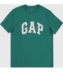 camiseta verde-blanco-naranja gap