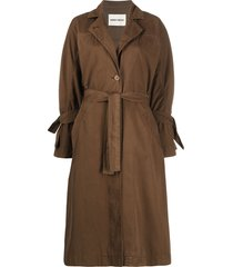 henrik vibskov flame trench coat - brown
