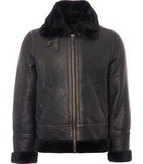 schott nyc lc1259 bombardier leather flying jacket - black