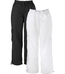 pantaloni cropped (pacco da 2) (nero) - bpc bonprix collection