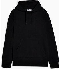 mens black peached hoodie