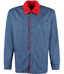 levis sherpa denim car coat - levis vintage clothing