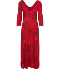 vest yess maxi dress galajurk rood desigual