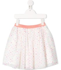 billieblush dotted tulle skirt - white
