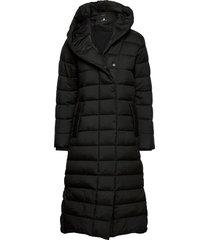 stella wns coat 2 gevoerde lange jas zwart didriksons