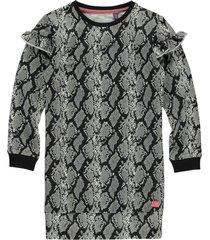 quapi ki dress tade dark grey snake | freewear grijs