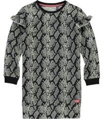 quapi ki dress tade dark grey snake | freewear grijs