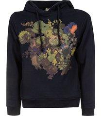 dries van noten front floral print hoodie