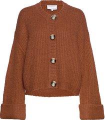 caress cardigan stickad tröja cardigan brun designers, remix