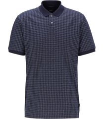 boss men's parlay 55 houndstooth-jacquard polo shirt