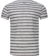 camiseta hombre jaspe a rayas color beige, talla s