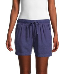 velvet heart women's linen-blend shorts - indigo - size xs