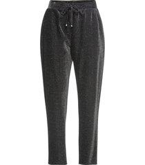 pantaloni ampi in lurex (nero) - bodyflirt