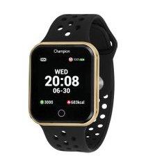 relógio digital champion smart feminino - ch50006u dourado