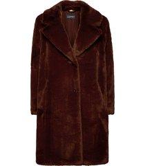 coats woven outerwear faux fur brun esprit collection