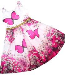 vestido mariposas patatitas i2220 rosado
