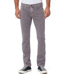 men's paige transcend federal slim straight leg jeans, size 38 - grey